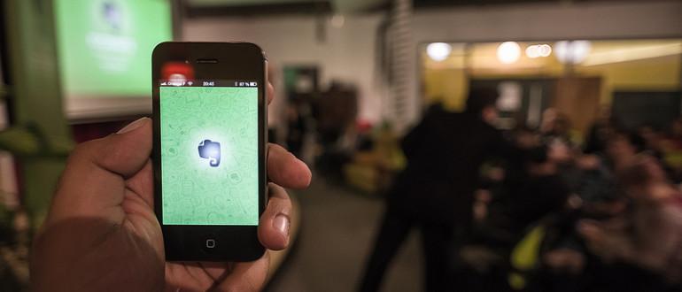 Evernote en un iPhone.