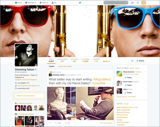Foto de perfil en Twitter.