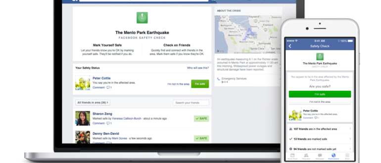 Facebook presenta Safety Check