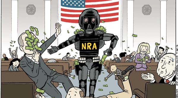 Parodia sobre el lobbying de la Asociación Nacional del Rifle. Fuente: Tumblr
