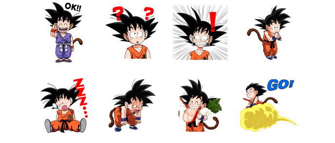 Stickers de Line (DragonBall).