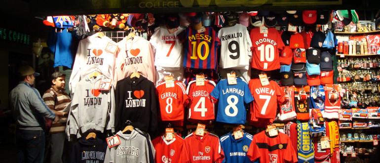 Camisetas equipos de fútbol.