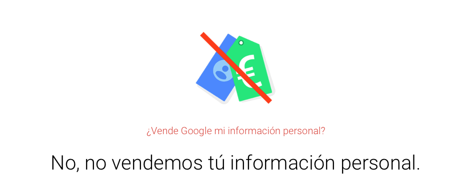 Información personal en Google.