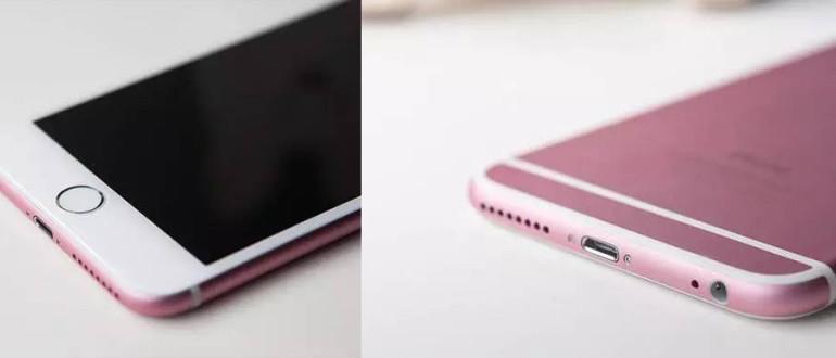 iPhone 6S rosa.