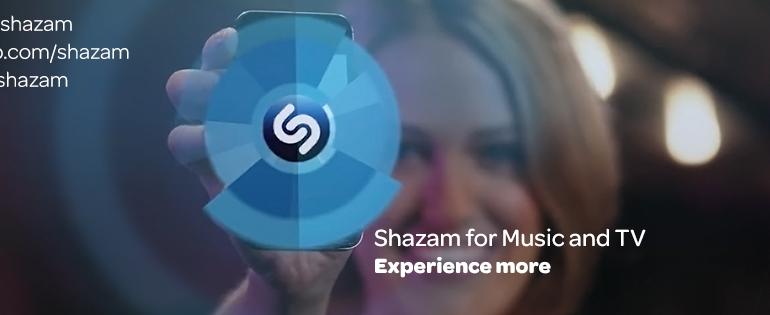 Shazam logo.