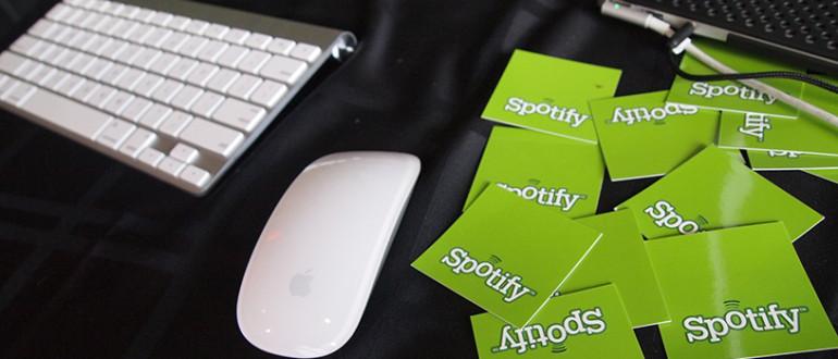 Tarjetas de Spotify.